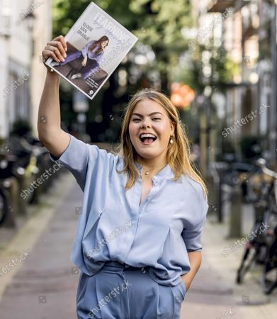 Portrait of Countess Eloise van Oranje with her book in Haarlem, The Netherlands, 17 June 2021. The daughter of Prince Constantijn and Princess Laurentien has released a lifestyle book, where she provides answers to the questions which she receives from her followers on Instagram.