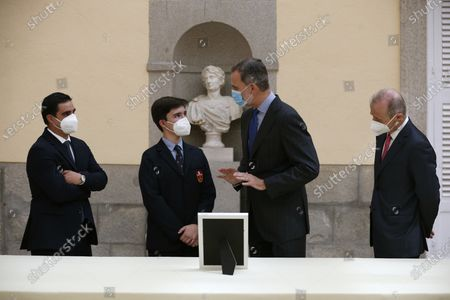 King Felipe VI attends 39th edition of the school contest 'What is a King for you?' at El Pardo Royal Palace