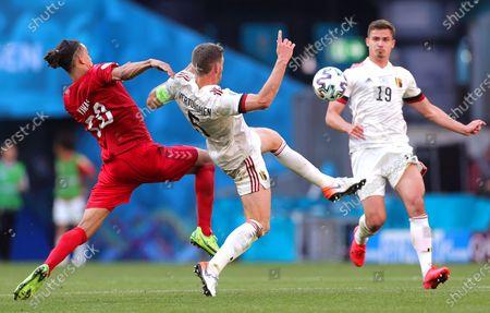 Editorial picture of Group B Denmark vs Belgium, Copenhagen - 17 Jun 2021