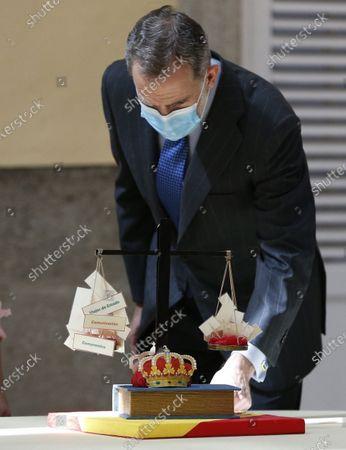 Editorial photo of King Felipe VI grants audience to school contest winners in Madrid, Spain - 17 Jun 2021