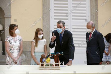 Editorial image of King Felipe VI grants audience to school contest winners in Madrid, Spain - 17 Jun 2021