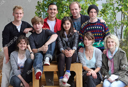 Cast Of Punk A New Production At The Lyric Hammersmith. Back: Nicholas Banks Henry Lloyd Hughes Simon Wolfe And Tom Sturridge Front: Ghazaleh Golpira Harry Mcentire Sophie Wu Lily Cahill And Tanya Gleason