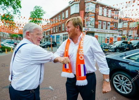 King Willem-Alexander visits the Marktweg, The Hague