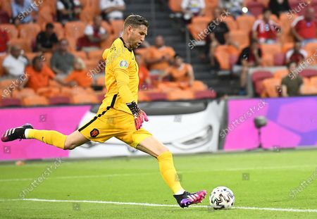 Goalkeeper Maarten Stekelenburg of the Netherlands in action during the UEFA EURO 2020 preliminary round group C soccer match between the Netherlands and Austria in Amsterdam, Netherlands, 17 June 2021.