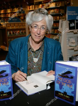 Editorial image of Laurie R King promotes her new book 'The God of the Hive' at Waterstones, Reading, Britain - 22 Jul 2010
