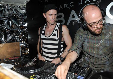 Jake Shears and Seb Chew (DJ's)