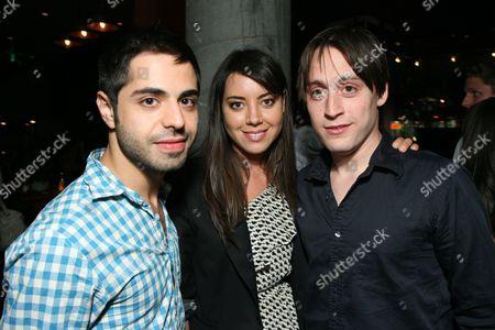 Satya Bhabha, Aubrey Plaza and Kieran Culkin