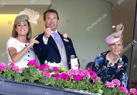 Natalie Pinkham, Peter Phillips and Zara Tindall