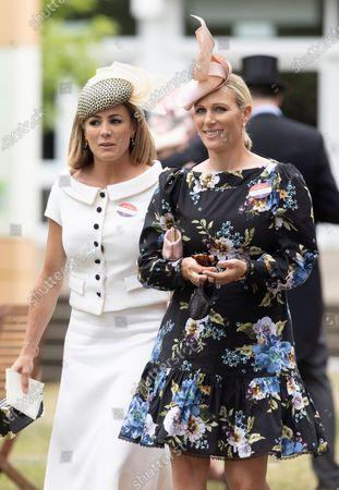 Natalie Pinkham and Zara Tindall