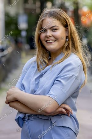 Portrait of Countess Eloise van Oranje. The daughter of Prince Constantijn and Princess Laurentien has released a large number of followers on Instagram and a lifestyle book. robin utrecht netherlands