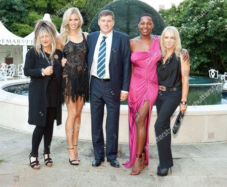 Elizabeth Emanuel, Elizabeth Minett, Geoff Polites (CEO of Jaguar Motor Cars), Sonique and Karen Millen