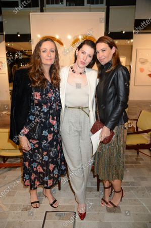 Lucy Yeomens, Lily Lewis and Claire Forlani