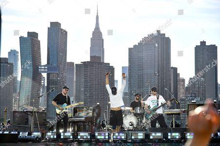 Stock Image of Coldplay - Chris Martin, Jonny Buckland, Guy Berryman and Will Champion