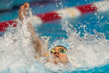 Ryan Murphy participates in the men's 200 backstroke during wave 2 of the U.S. Olympic Swim Trials, in Omaha, Neb