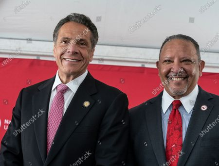 Governor Andrew Cuomo and NUL President & CEO Marc Morial attend construction kickoff for National Urban League Empowerment Center in Harlem. New center will include Urban Civil Rights Museum, NAL Headquarters, National Urban League Institute for Race, Equity and Justice, 170 units of affordable housing, office space for non-profits organizations including One Hundred Black Men of New York, United Negro College Fund and Jazzmobile, and retail space with Target and Trader Joe's as anchors.