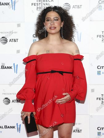 """Actress Ilana Glazer attends the premiere for """"False Positive"""" during the 20th Tribeca Festival at The Waterfront Plaza at Brookfield Place, in New York"""