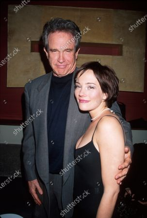 Actors Warren Beatty and Natasha Wagner at film premiere of her Two Girls and a Guy.