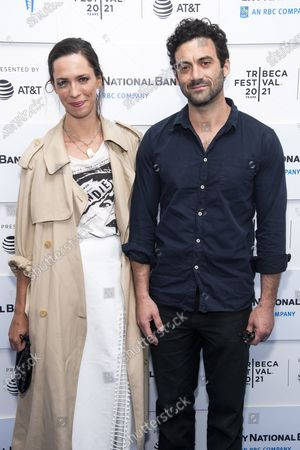 """Stock Image of Rebecca Hall and Morgan Spector attend a screening of """"Blondie: Vivir En La Habana"""" during the 20th Tribeca Festival at The Battery, in New York"""