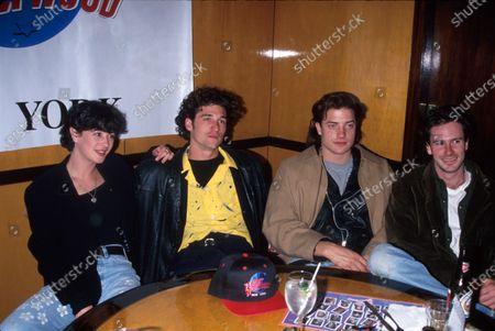 (L-R) Actors Moira Kelly, Patrick Dempsey, Brendan Fraser and Josh Hamilton.