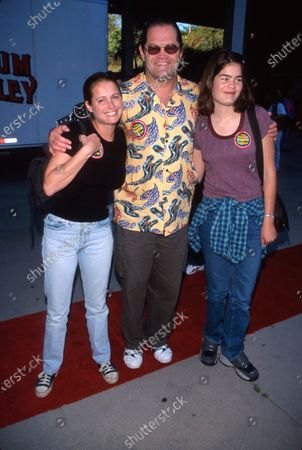 Stock Picture of (L-R) Actress Ami Dolenz w. father, actor Mickey Dolenz, and sister Emily.