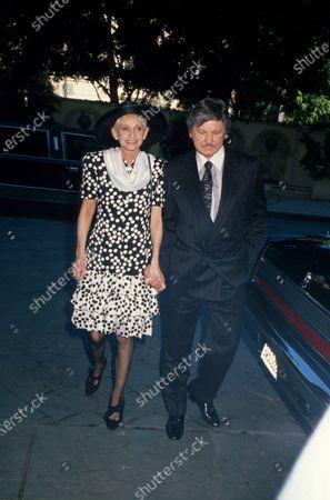 Married actors Jill Ireland and Charles Bronson.