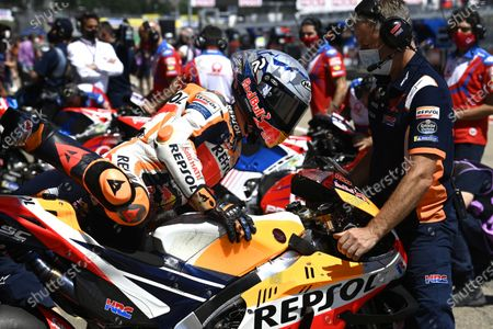 SACHSENRING, GERMANY - JUNE 18: Pol Espargaro, Repsol Honda Team during the German GP at Sachsenring on Friday June 18, 2021 in Hohenstein Ernstthal, Germany. (Photo by Gold and Goose / LAT Images)