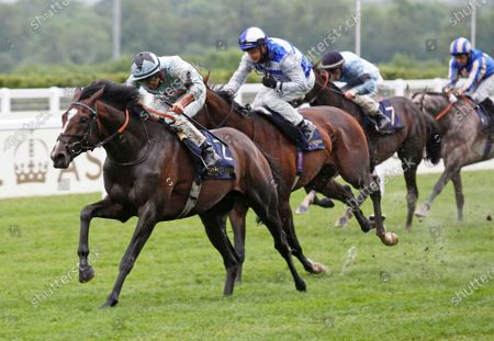Alenquer and Tom Marquand win the King Edward VII Stakes at Royal Ascot. 18/6/2021 Pic Steve Davies