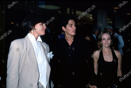 (L-R) Actress Ali MacGraw with her son Josh Evans and his fiance Natasha Wagner.