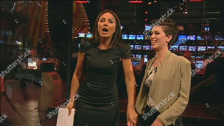 Host Davina McCall with Caoimhe Guilfoyle who walked off Big Brother