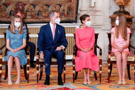 Spanish royals attend the act of imposition of decorations of the order of civil merit, Madrid