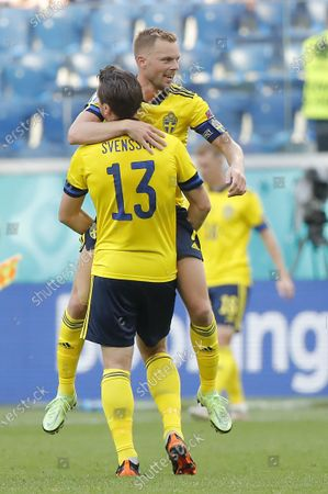 Editorial image of Group E Sweden vs Slovakia, St Petersburg, Russian Federation - 18 Jun 2021