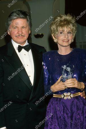 Married actors Charles Bronson and Jill Ireland.