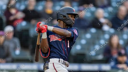 Minnesota Twins' Nick Gordon takes a swing during an at-bat in a baseball game against the Seattle Mariners, in Seattle. The Mariners won 10-0