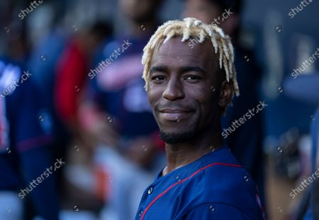 Minnesota Twins' Nick Gordon is pictured in the dugout before a baseball game against the Seattle Mariners, in Seattle. The Mariners won 10-0