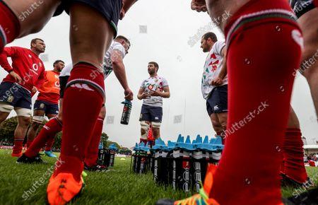 British & Irish Lions Squad Training, Jersey, United Kingdom 18/6/2021. Iain Henderson, Tadhg Beirne, Courtney Lawes and Ken Owens
