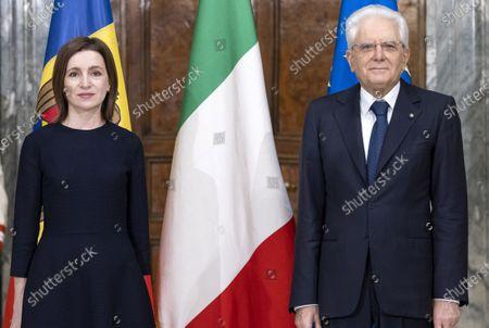 Italian Republic president Sergio mattarella receives the President of Moldova, Rome