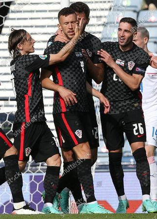 Editorial photo of Group D Croatia vs Czech Republic, Glasgow, United Kingdom - 18 Jun 2021