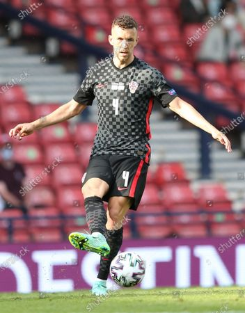 Ivan Perisic of Croatia in action during the UEFA EURO 2020 group D preliminary round soccer match between Croatia and the Czech Republic in Glasgow, Britain, 18 June 2021.