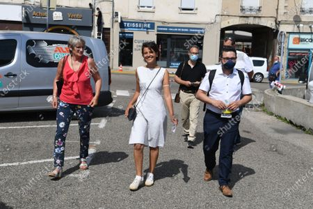 Najat Vallaud-Belkacem at the Marche de Bourgoin Jallieu as part of her electoral campaign.