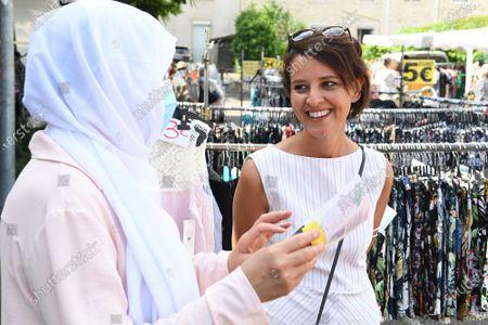 Editorial photo of Najat Vallaud Belkacem campaigning, Bourgoin Jallieu, France - 17 Jun 2021