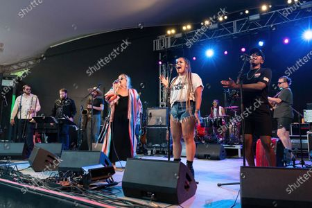 Stock Picture of Sir Woman performs in concert at Stubb's Bar-B-Q on June 17, 2021 in Austin, Texas.