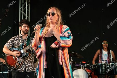 Stock Image of Sir Woman performs in concert at Stubb's Bar-B-Q on June 17, 2021 in Austin, Texas.