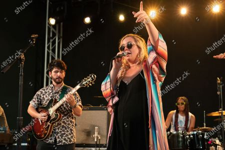 Editorial picture of Shakey Graves and Sir Woman in concert at Stubb's Bar-B-Q, Austin, Texas, USA - 17 Jun 2021