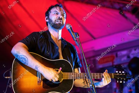 Stock Photo of Shakey Graves performs in concert at Stubb's Bar-B-Q on June 17, 2021 in Austin, Texas.