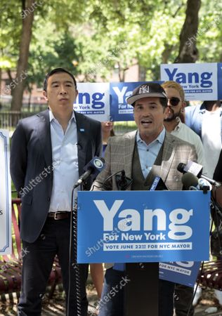 Editorial picture of Mayoral Candidate Yang Campaigns In New York, USA - 17 Jun 2021