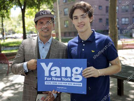 John Leguizamo and Lucas Leguizamo in New York City