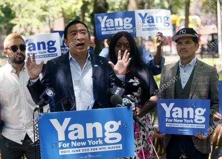John Leguizamo and Andrew Yang in New York City.