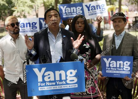 Editorial image of Mayoral Candidate Yang Campaigns In New York, USA - 17 Jun 2021