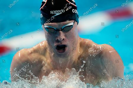 Kevin Cordes competes in the men's 200-meter breaststroke final during wave 2 of the U.S. Olympic Swim Trials, in Omaha, Neb