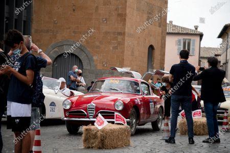 John Elkann drives in Orvieto